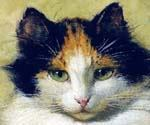 Cat by  Henriette Ronner Knip (Painting ID: AN-1106-KA)
