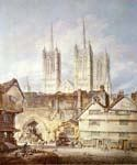 Cathedral Church at Lincoln by  William Turner (Painting ID: CI-1448-KA)
