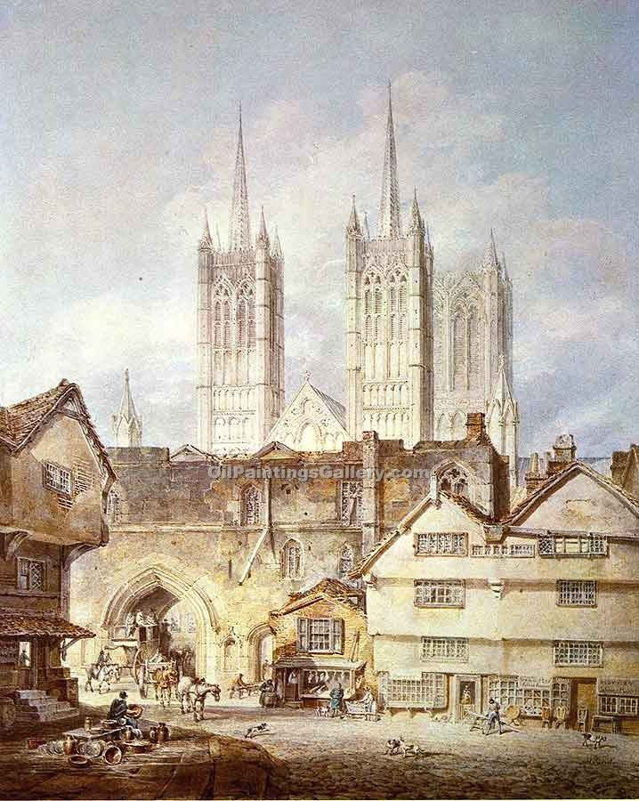 """Cathedral Church at Lincoln"" by  William Turner"