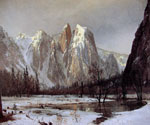 Cathedral Rock, Yosemite Valley, California by  Albert Bierstadt (Painting ID: LA-3341-KA)