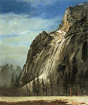 Cathedral Rocks, A Yosemite View by  Albert Bierstadt (Painting ID: LA-3343-KA)