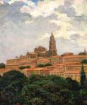 Cathedral at le Puy, France by  James Carroll Beckwith (Painting ID: CI-2108-KA)