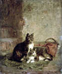 Cats (1883) by  Julius Adam (Painting ID: AN-0017-KA)