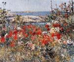 Celia Thaxters Garden, Isles of Shoals, Maine by  Frederick Childe Hassam (Painting ID: CK-6024-KA)