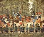 Central Park, New York by  Maurice Brazil Prendergast (Painting ID: CL-4622-KA)