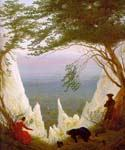 Chalk Cliffs on Rugen by  Caspar David Friedrich (Painting ID: LA-1558-KA)