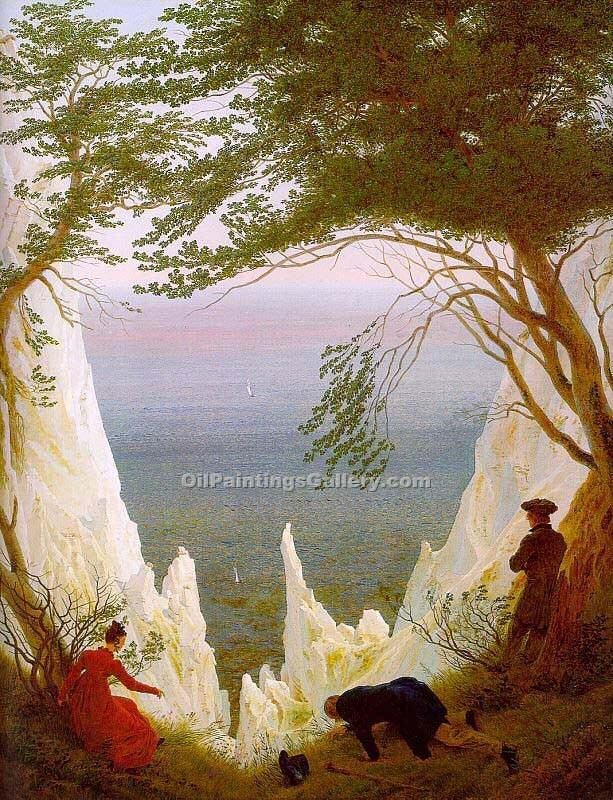 """Chalk Cliffs on Rugen"" by  Caspar David Friedrich"
