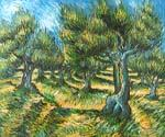 Champ d Olive by  Vincent Van Gogh (Painting ID: VG-0224-KA)