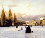 Champ-de-Mars, Winter by  William Brymner (Painting ID: LA-0623-KA)