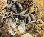 Charge of the Lancers by  Umberto Boccioni (Painting ID: AB-0345-KA)
