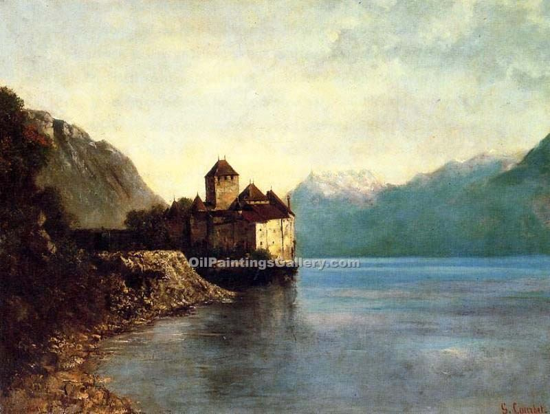 """Chateau de Chillon 08"" by  Gustave Courbet"