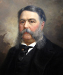 Chester A. Arthur, 21st President, Painted by Ole Peter Hansen Balling  (Painting ID: CM-0021-KA)
