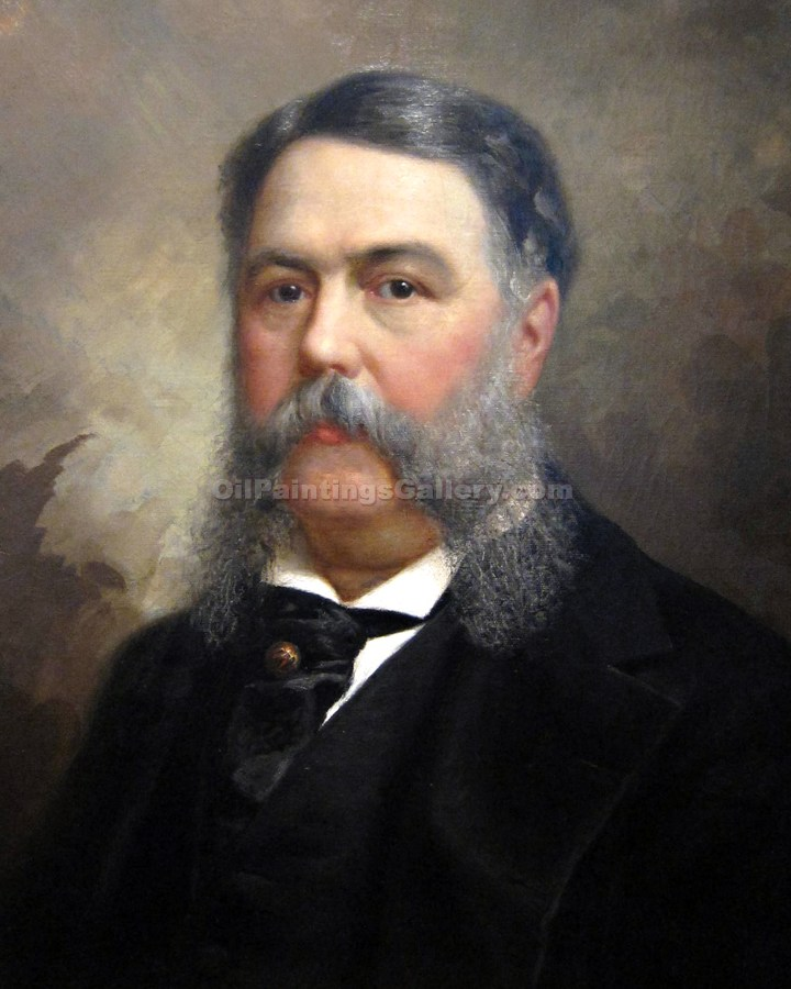 """Chester A. Arthur, 21st President, Painted by Ole Peter Hansen Balling"""