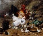 Chickens 70 by  Eugene Remy Maes (Painting ID: AN-0970-KA)