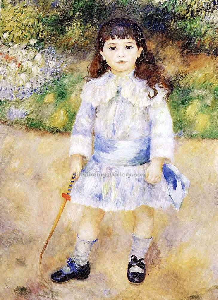 """Child With A Whip"" by  Pierre Auguste Renoir"