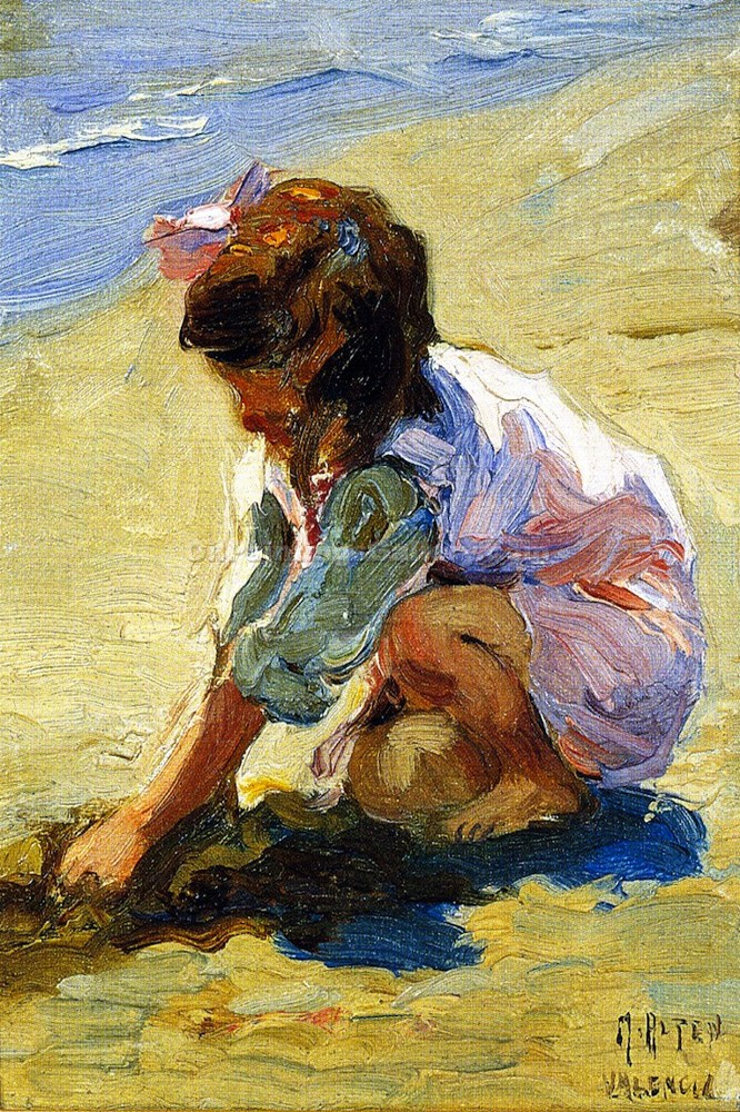 """Child at the Beach"" by  Mathias J. Alten"