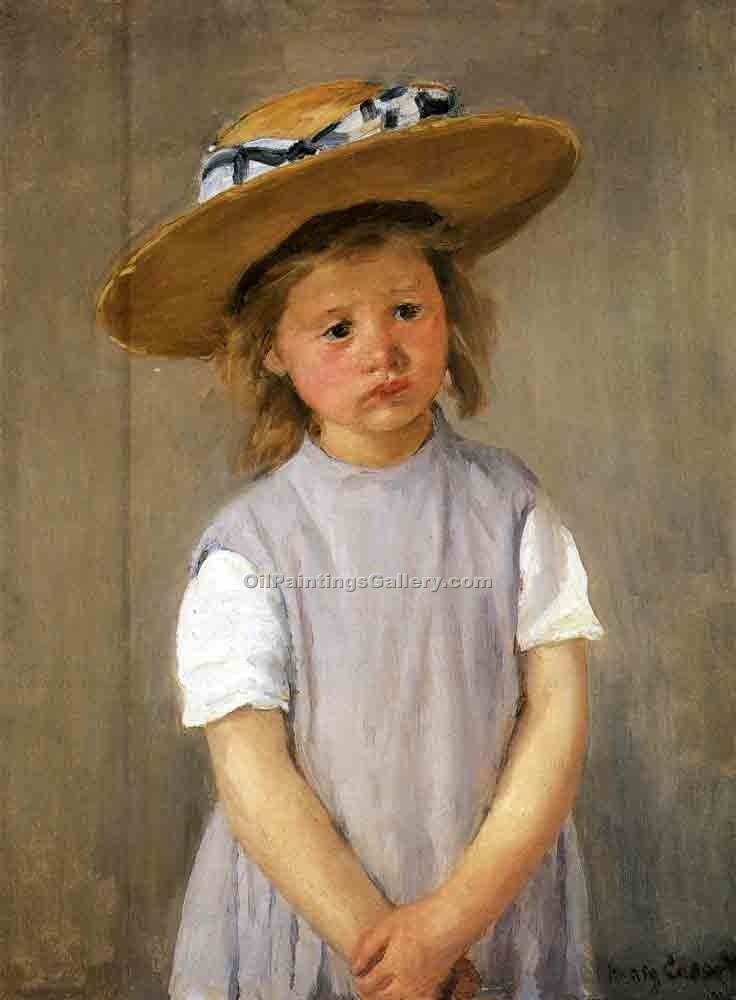 """Child in a Straw Hat"" by  Mary Cassatt"