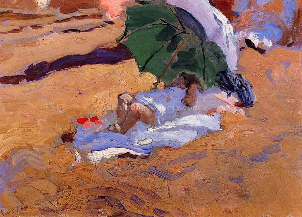 """Child s Siesta"" by  Bastida Joaquin Sorolla"