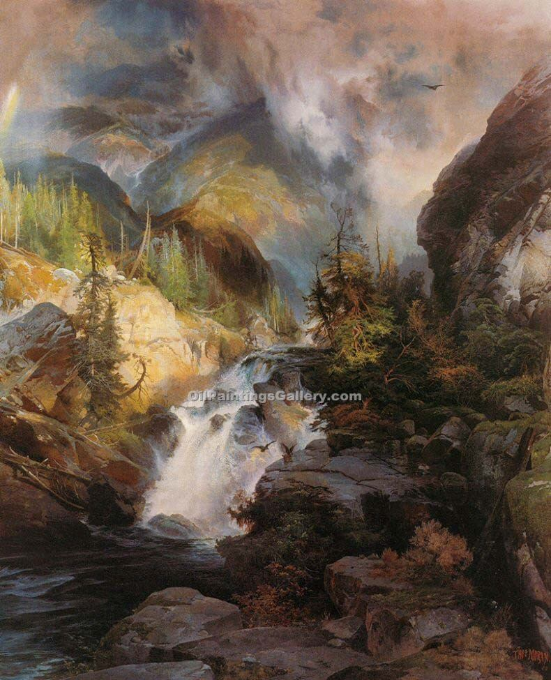 """Children of the Mountain"" by  Thomas Moran"