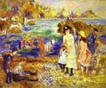 Children on the Beach of Guernesey by  Pierre Auguste Renoir (Painting ID: CL-4556-KA)