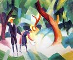 Children with a Goat by  August Macke (Painting ID: EI-0341-KA)
