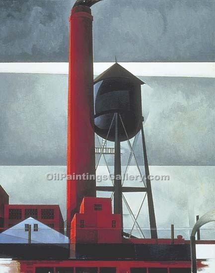 """Chimney and Watertower"" by  Charles Demuth"