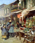 Chinese Market by  Theodore Wores (Painting ID: ER-0216-KA)