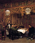 Chinese Restaurant by  Theodore Wores (Painting ID: ER-0218-KA)