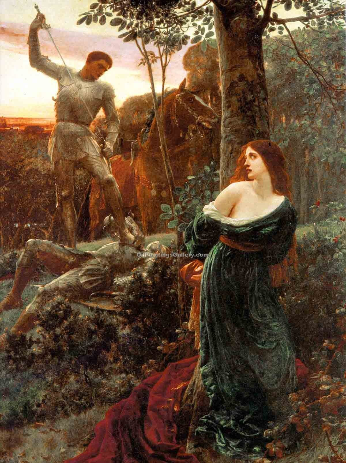 """Chivalry"" by  Sir Frank Dicksee"
