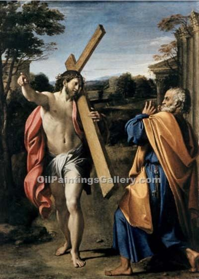 Christ Appearing to St. Peter by AgostinoCarracci | Watercolor Painting Gallery - Oil Paintings Gallery