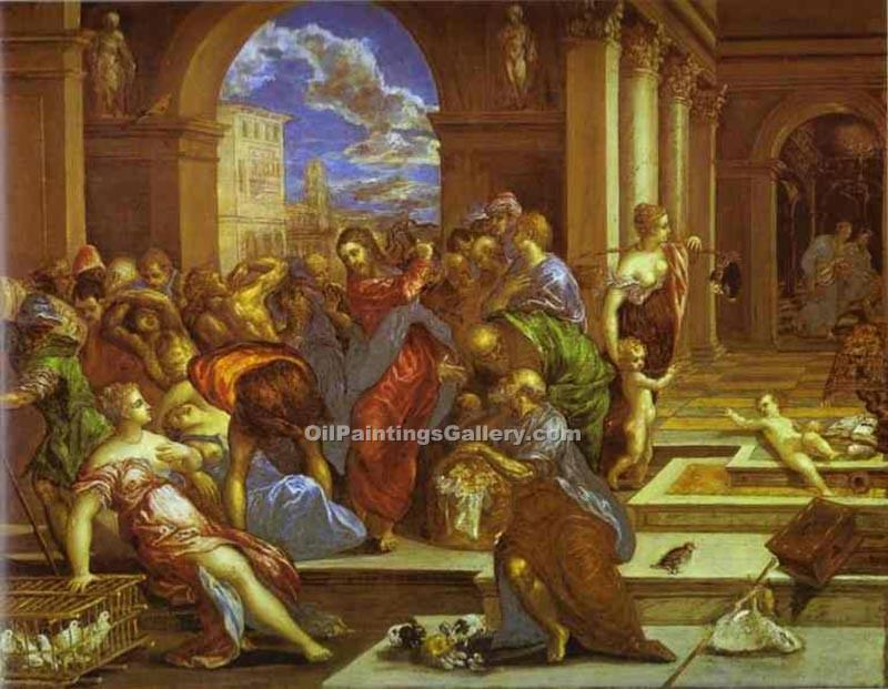 """Christ Driving the Traders from the Temple"" by  El Greco"