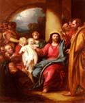 Christ Showing a Little Child by  Benjamin West (Painting ID: CM-1614-KA)