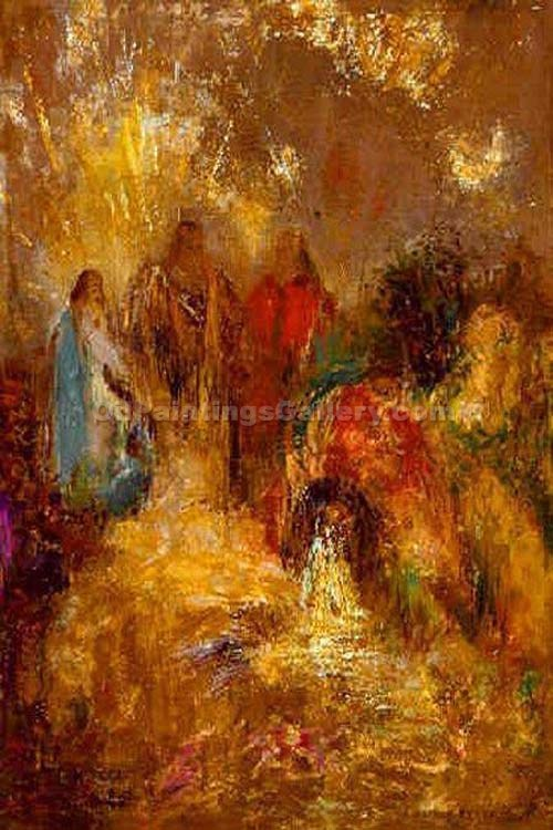 """Christ and His Desciples"" by  Odilon Redon"