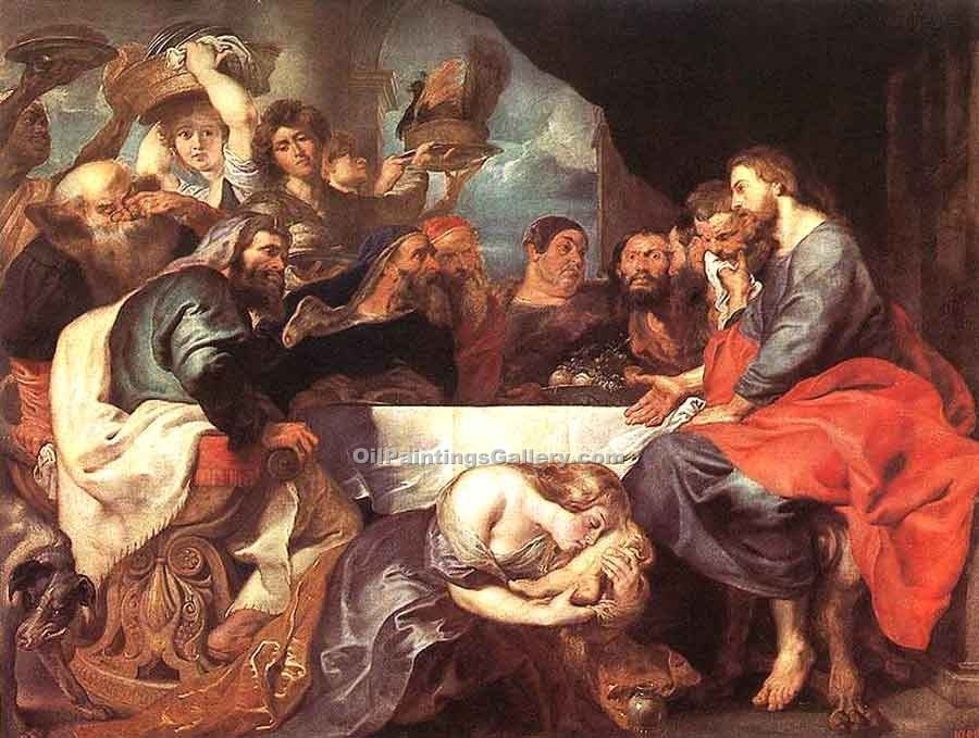 """Christ at Simon the Pharisee"" by  Peter Paul Rubens"