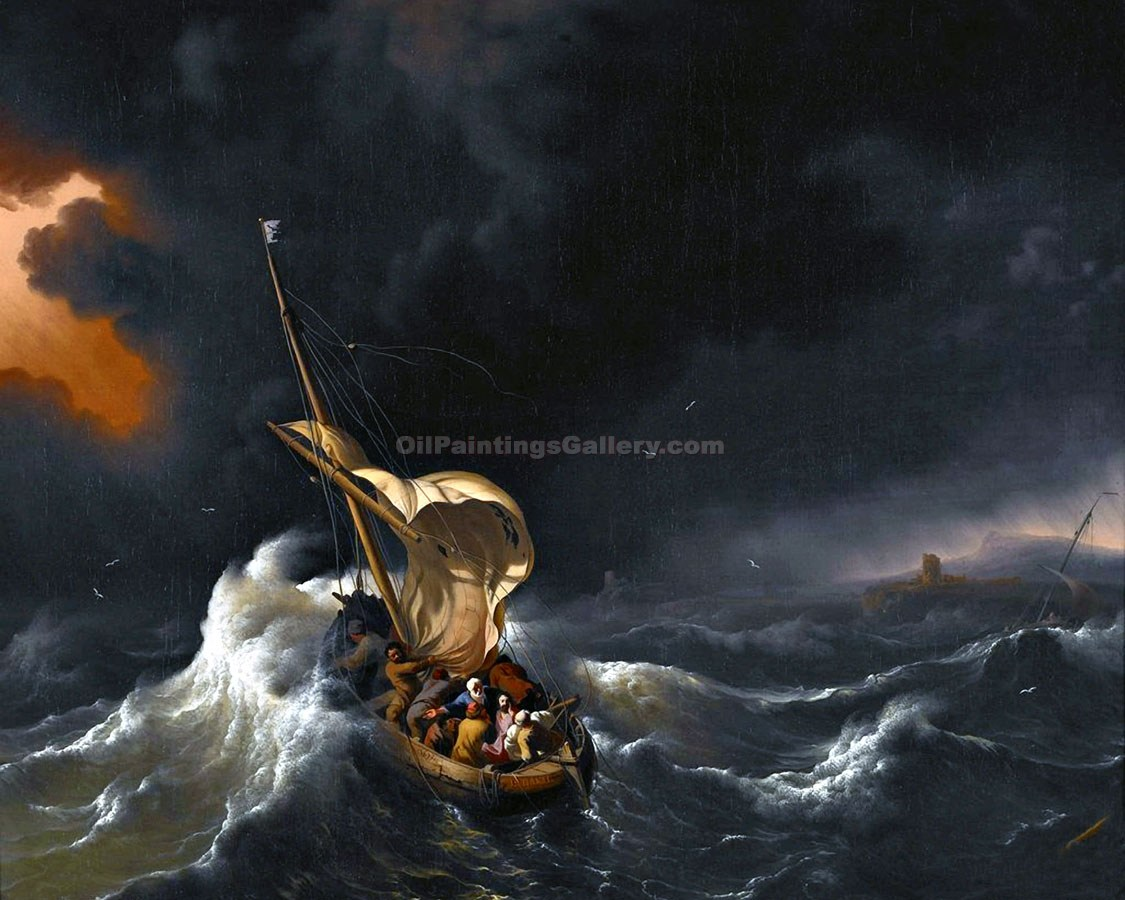 """Christ in the Storm on the Sea of Galilee 71"" by  Ludolf Backhuysen"