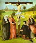 Christ on Cross with Donors and Saints by  Hieronymus Bosch (Painting ID: DA-7203-KA)