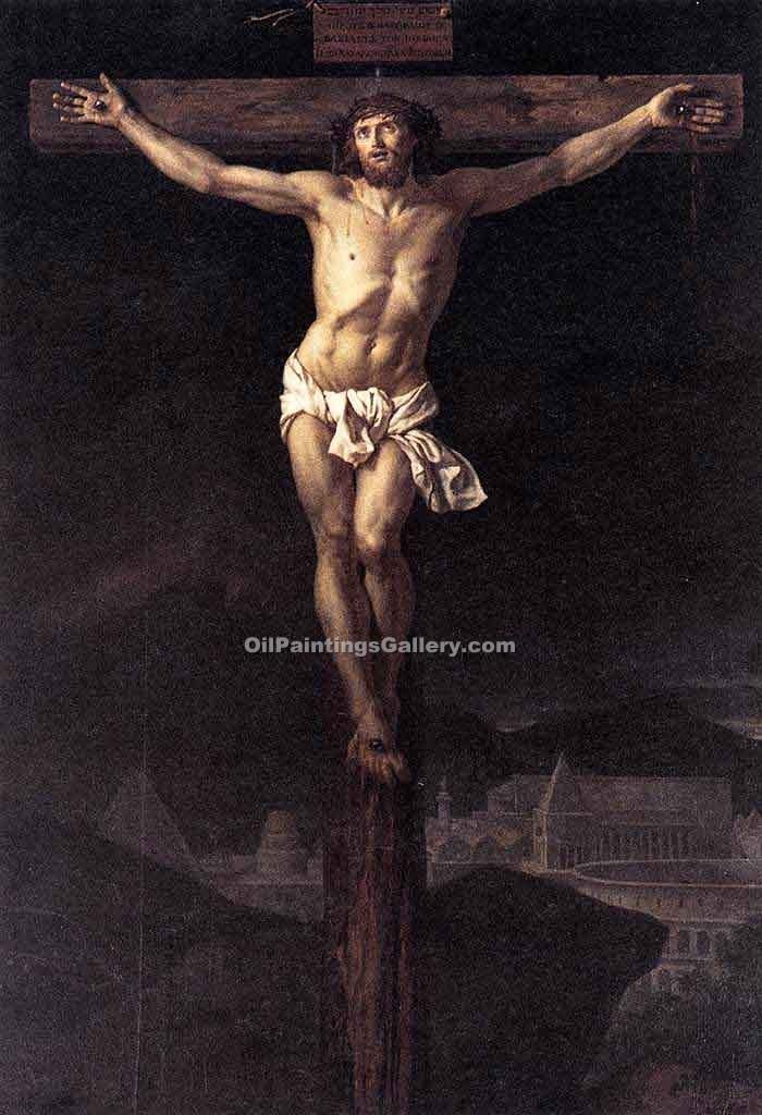 """Christ on the Cross 35"" by  Jacques Louis David"