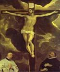 Christ on the Cross Adored by Two Donors by  El Greco (Painting ID: CM-1302-KA)
