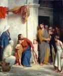 Christ with Children by  Carl Heinrich Bloch (Painting ID: DV-2064-KA)