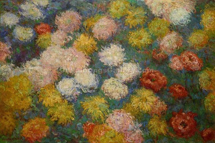 """Chrysanthemus"" by  Claude Monet"
