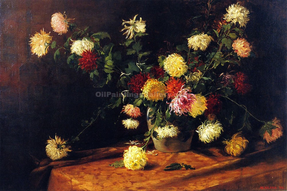 """Chrysanthemums"" by  Mathias J. Alten"