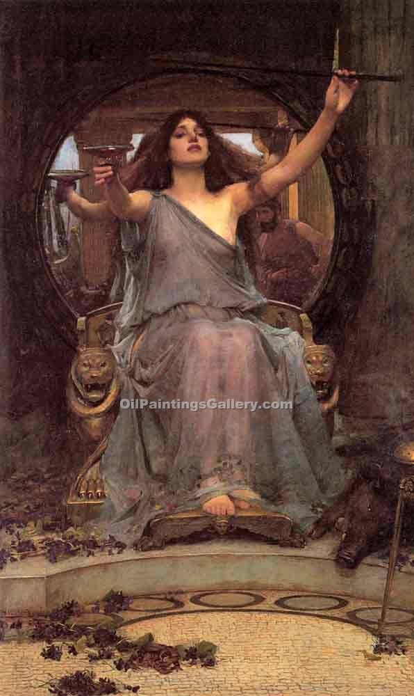 Circe offering the Cup to Ulysses by Waterhouse John William | Famous Artists Paintings - Oil Paintings Gallery