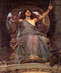 Circe offering the Cup to Ulysses by  John William Waterhouse (Painting ID: CL-4230-KA)