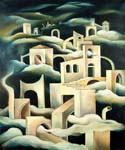 City in the Clouds by  Dan Livni (Painting ID: AD-0333-KA)