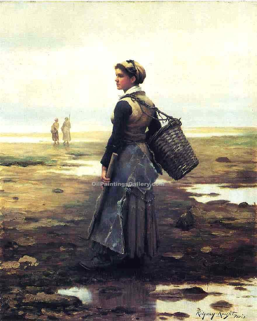 """Clamming"" by  Daniel Ridgway Knight"