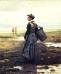 Clamming by  Daniel Ridgway Knight (Painting ID: EI-0914-KA)