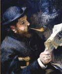 Claude Monet Reading A Newspaper by  Pierre Auguste Renoir (Painting ID: CL-4445-KA)