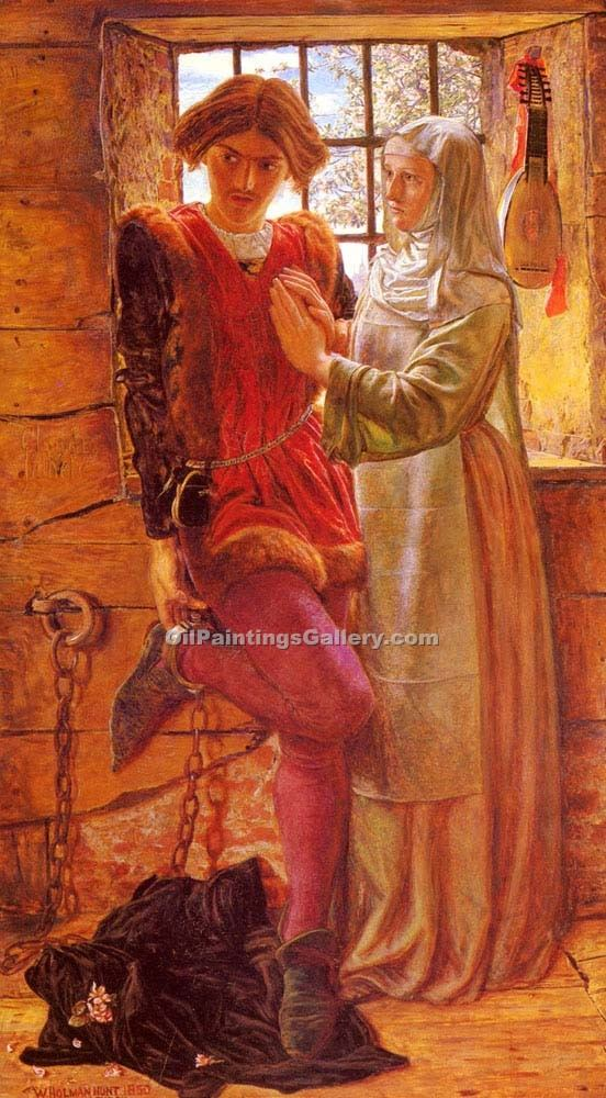 """Claudio and Isabella"" by  William Holman Hunt"