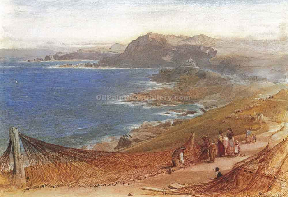 """Cleaning Nets"" by  Albert Goodwin"