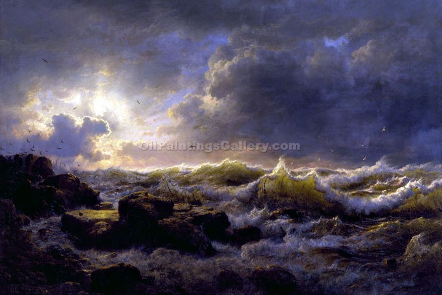 """Clearing on the Coast of Sicily"" by  Andreas Achenbach"